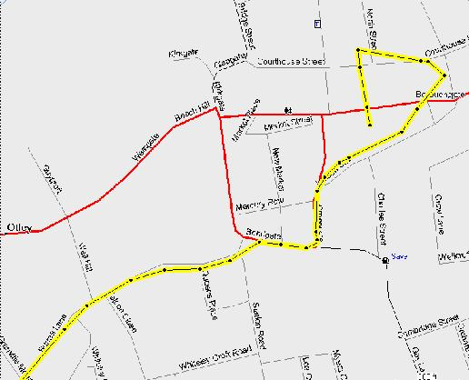 Detailed streetmap